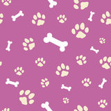 Pink bone and paw texture Stock Images