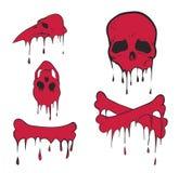Pink bones set. Vector eps vector illustration