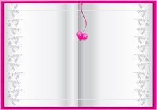 Pink book background for your text stock photography