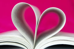 Pink Book Heart Shape Stock Image
