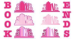 Pink Bookend icons Stock Photo