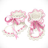 Pink booties for newborn Royalty Free Stock Image