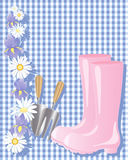 Pink boots Stock Images