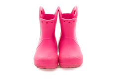 Pink boots Stock Photography