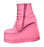 Pink boots isolated on white Stock Image