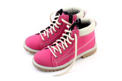Pink boots. A nice pair of pink boots Royalty Free Stock Images