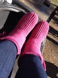 Pink boots Stock Photos