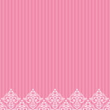 Pink border in damask baroque style Stock Photos