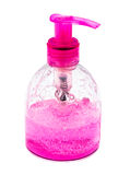 Pink bottles for cosmetics Stock Image