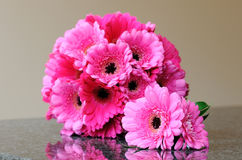 Pink bouquet and buttonhole Royalty Free Stock Photography