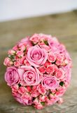 Pink Bouquet of Flowers on Table Royalty Free Stock Image