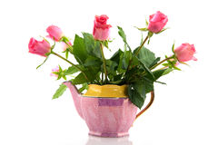 Pink bouquet roses Stock Photo