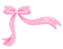 Pink bow Stock Image