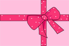 Pink bow. Illustration representing beautiful pink bow Stock Photography
