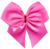 Pink bow. On a white background Stock Photos