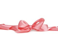 Pink bow Stock Images