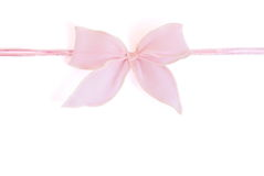 Pink bow Stock Photography