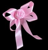 Pink bow. Royalty Free Stock Photos