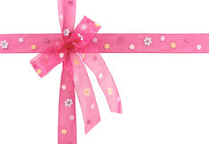 Pink bow Royalty Free Stock Images