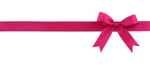 Pink bow Royalty Free Stock Image