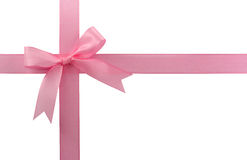 Pink bow stock photos