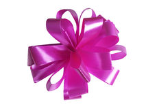 Pink bow. On white background Royalty Free Stock Photography