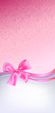 Pink bow background Royalty Free Stock Photos