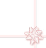 Pink bow cross ribbon isolated on white Stock Photo