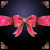 Pink bow Stock Photos