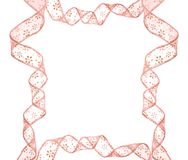Pink bow frame Stock Images