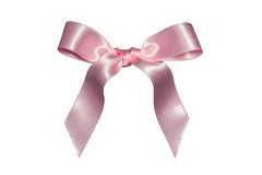 Pink bow,isolated Stock Photos