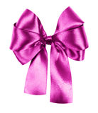 Pink bow isolated Royalty Free Stock Image