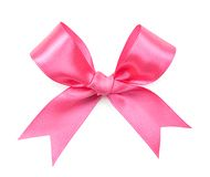 Pink bow isolated on white Royalty Free Stock Photography