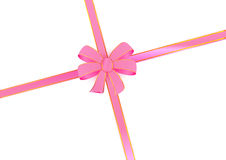 PINK BOW RIBBON Royalty Free Stock Images