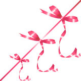 pink bow on the ribbon Royalty Free Stock Image