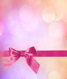 Pink Bow and Ribbon Royalty Free Stock Image