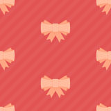 Pink bow seamless pattern. Stock Image