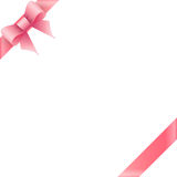 Pink bow tape Royalty Free Stock Photography