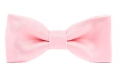 Pink bow tie isolated Stock Photography