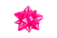 Pink Bow From Top Stock Photos