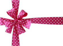 Pink bow on a white background Royalty Free Stock Image