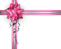 Pink bow on a white background royalty free stock photos