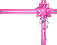 Pink bow on a white background Royalty Free Stock Photography