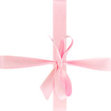 Pink bow wrap Stock Photos