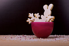 Pink bowle for easter Royalty Free Stock Photos