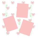 Pink bows scrapbook Royalty Free Stock Photos