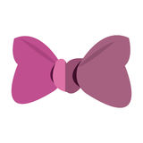 pink bowtie design. Pink bowtie icon. Female ribbon and decoration theme.  design. Vector illustration Stock Photo