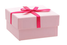 Pink box. Isolated on white Stock Images