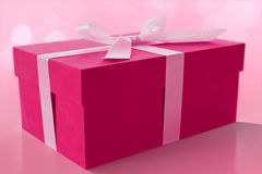 The Pink Box. A pink box an idea for valentin's event Stock Photography