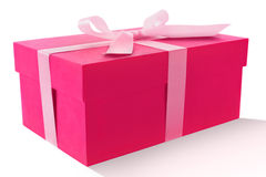Pink Box. A pink box isolated shot on a white background Stock Photo